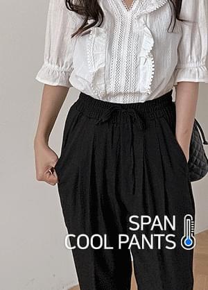 韓國空運 - Fenker Banding Linen Spandex Cool Pants 短褲