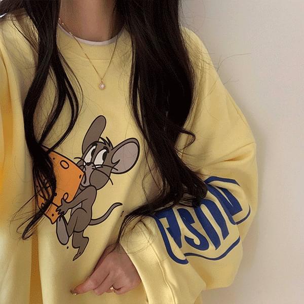 Overfit Cheese Sweatshirt