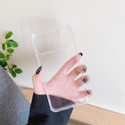 Transparent camera shield case