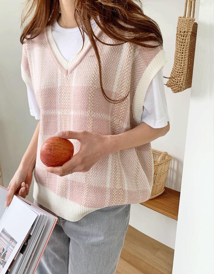 Marni Check Overfit Knitwear Vest
