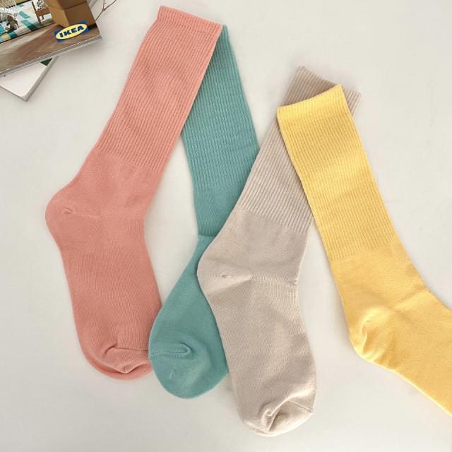 Kelly pastel Ribbed socks