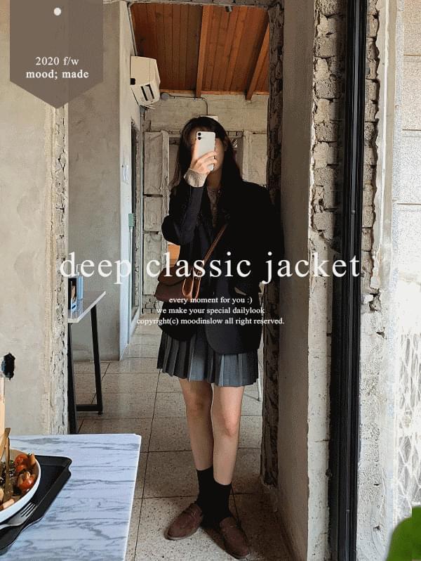 Deep classic single jacket