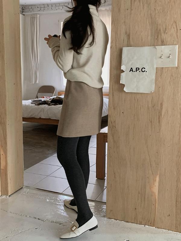 Terry Wool Mini Skirt-wool 20%
