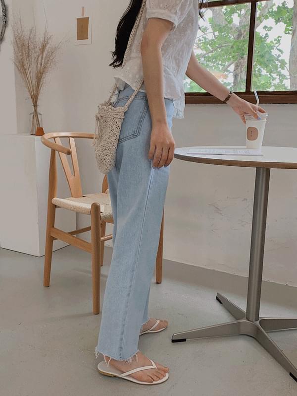 Munic Light Blue Long Denim Pants