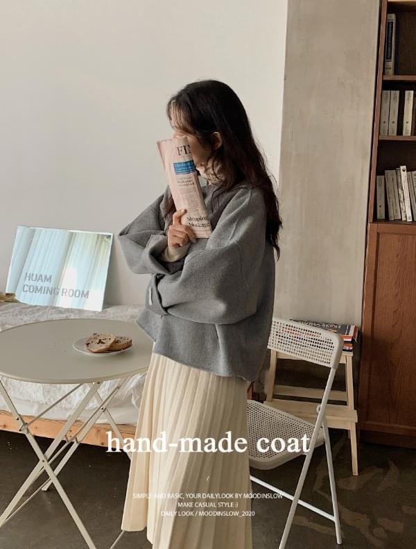 Abang handmade short coat-wool 90% 大衣