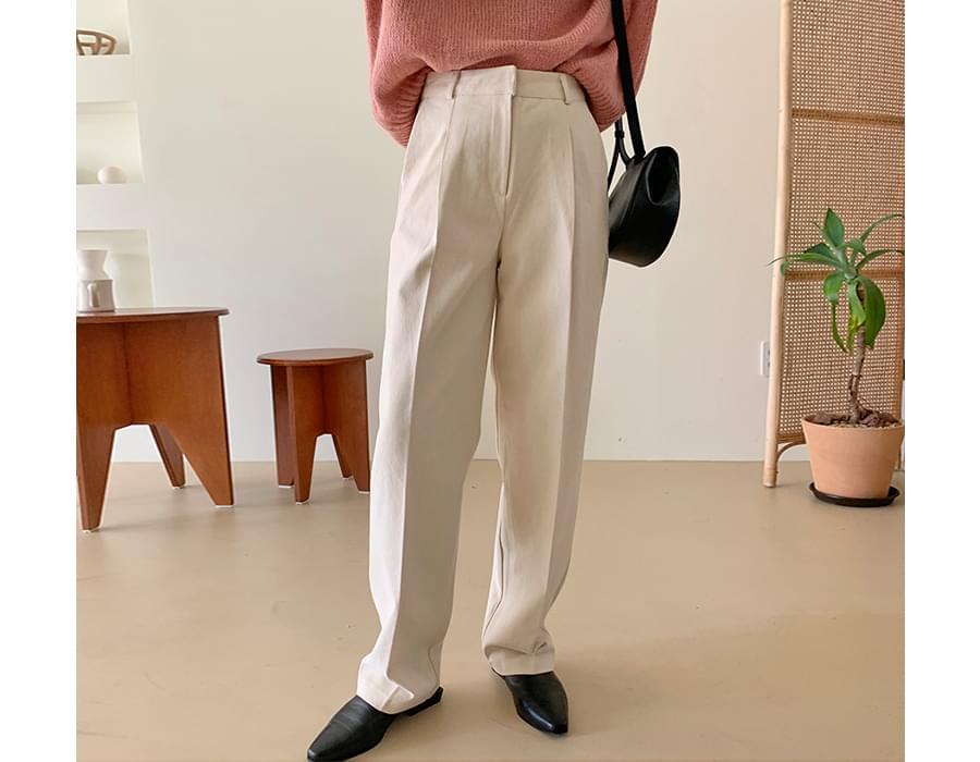 Glory pintuck cotton pants
