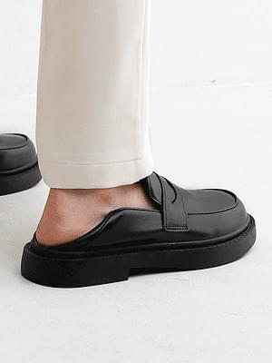 Isshu 2way Babush Penny Whole Heel Loafers & Blowers 10893 ♡Second Sold Out♡