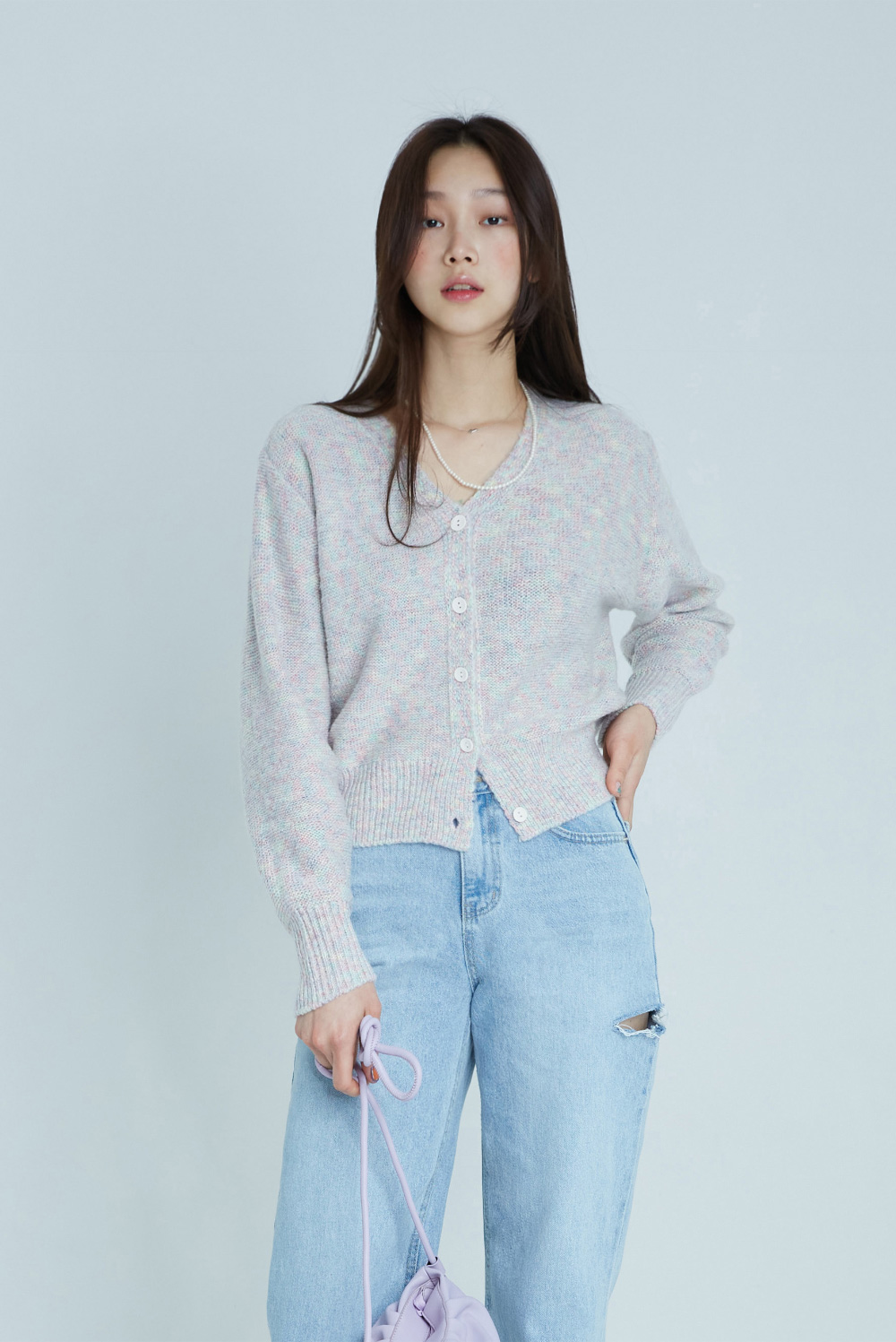 Cotton Candy Semi Crop Cardigan
