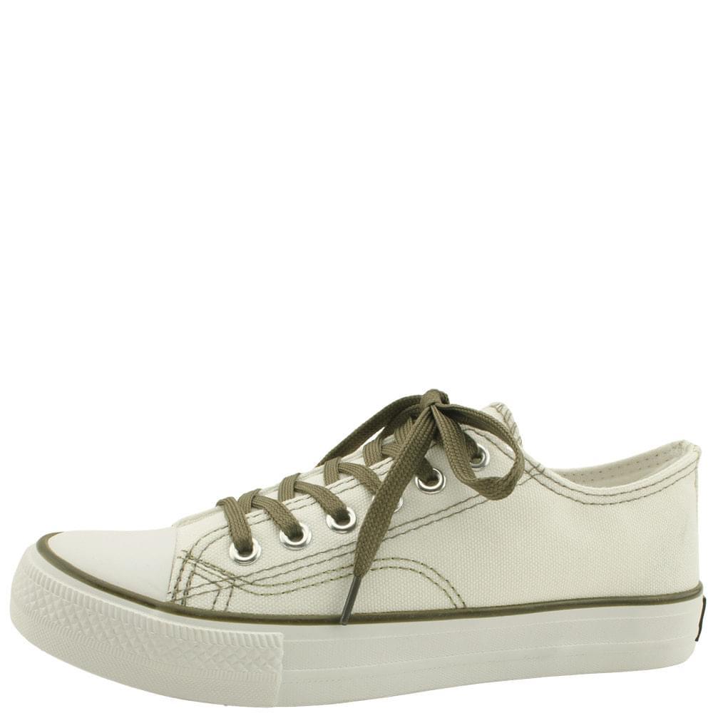 Color String Canvas Shoes Sneakers Khaki