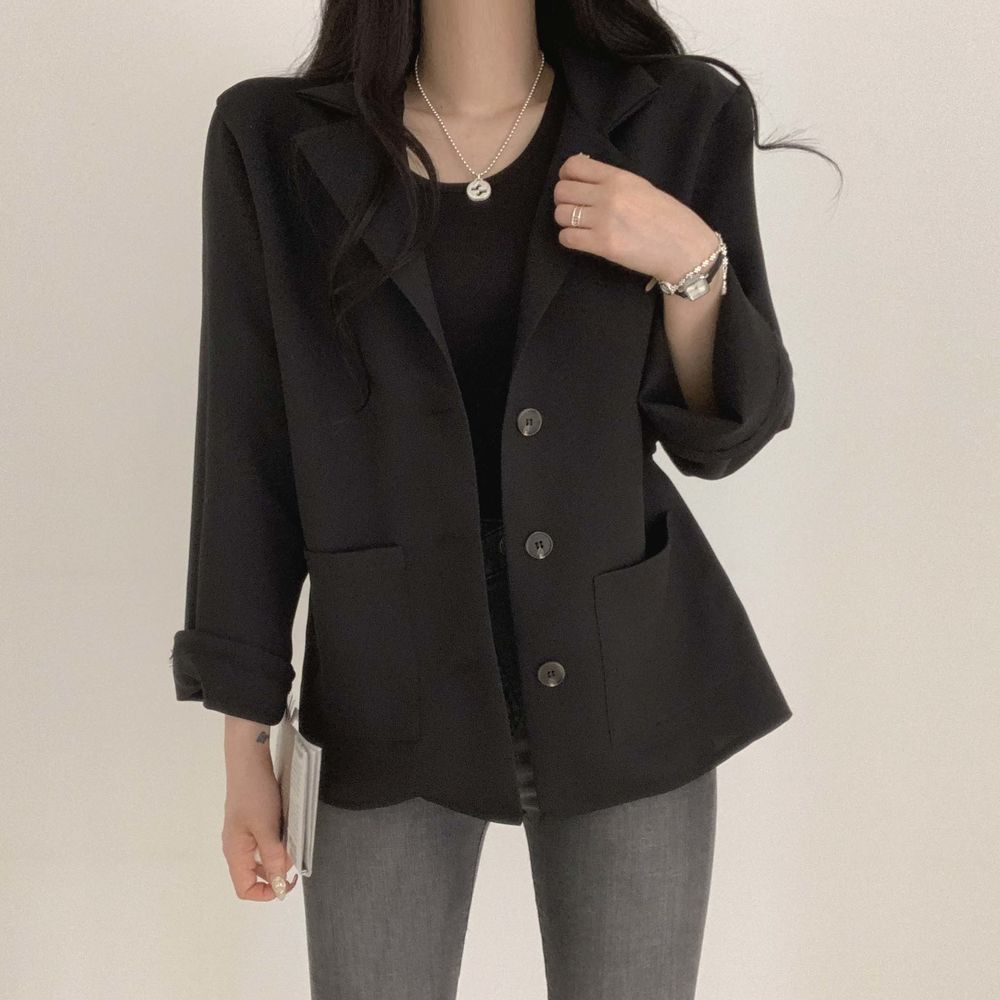 Neat basic Loose-fit jacket