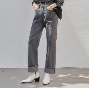 DENT ROLL UP DENIM PANTS