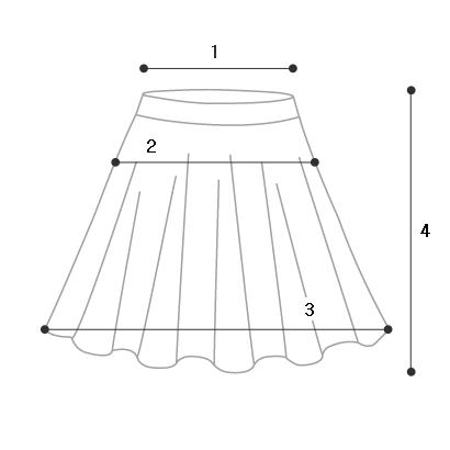 sk4019 zea shirring flared skirt