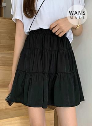 sk4019 zea shirring flared skirt