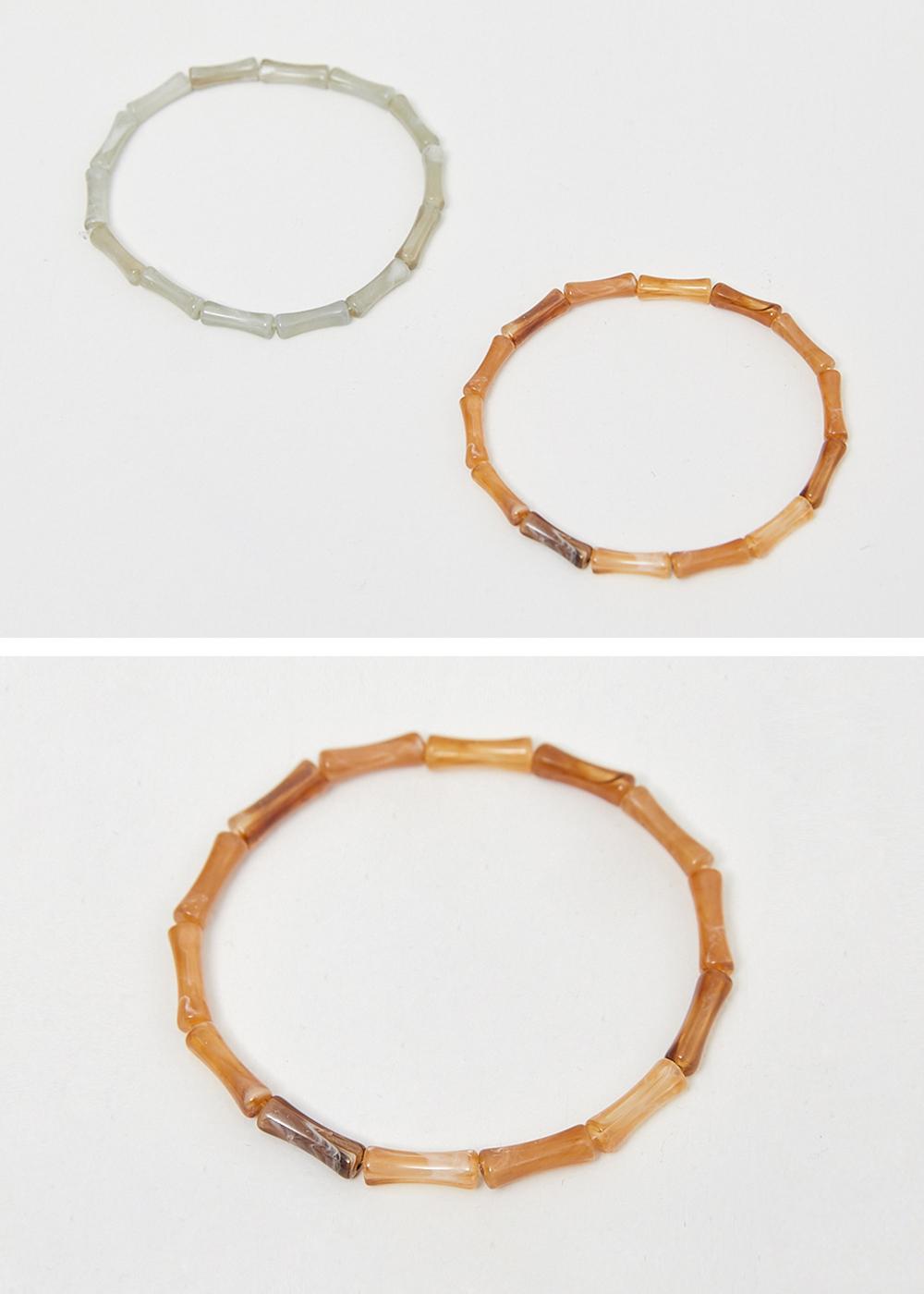 Bamboo beads bracelet