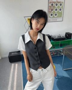 Suit button vest