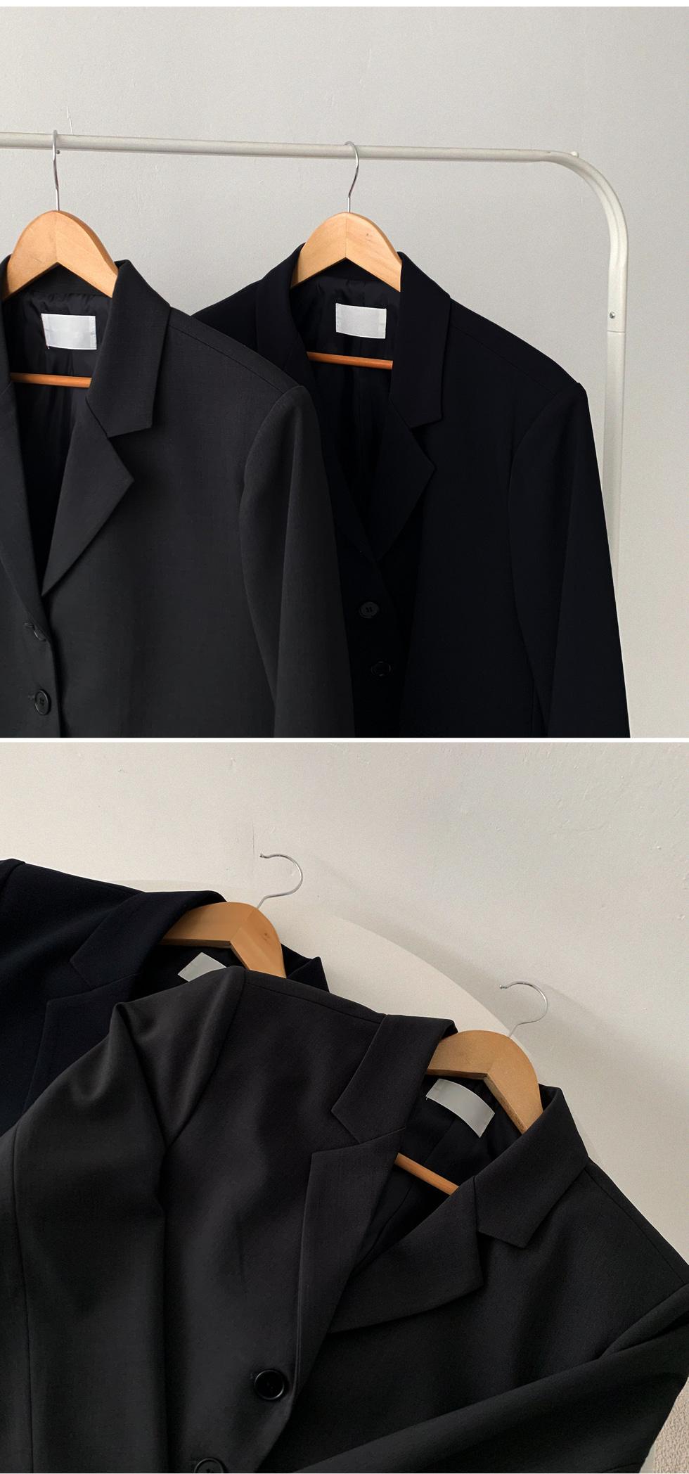 翻蓋口袋墊肩排釦西裝外套