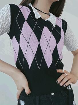 Crop Holden Argyle Knitwear