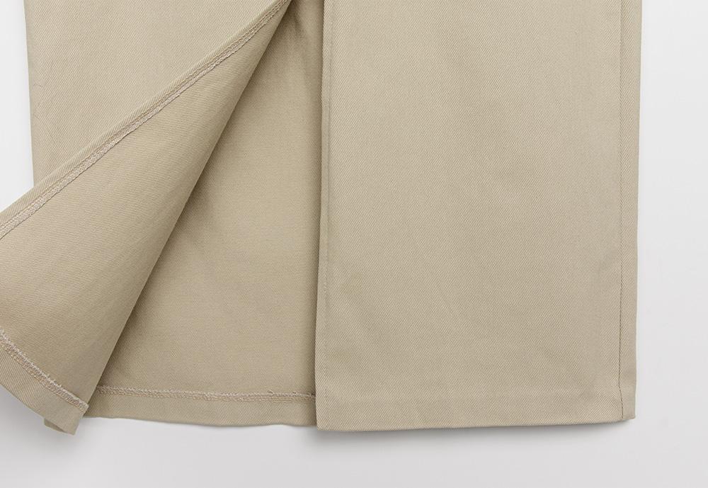 Weldon long slit banding skirt
