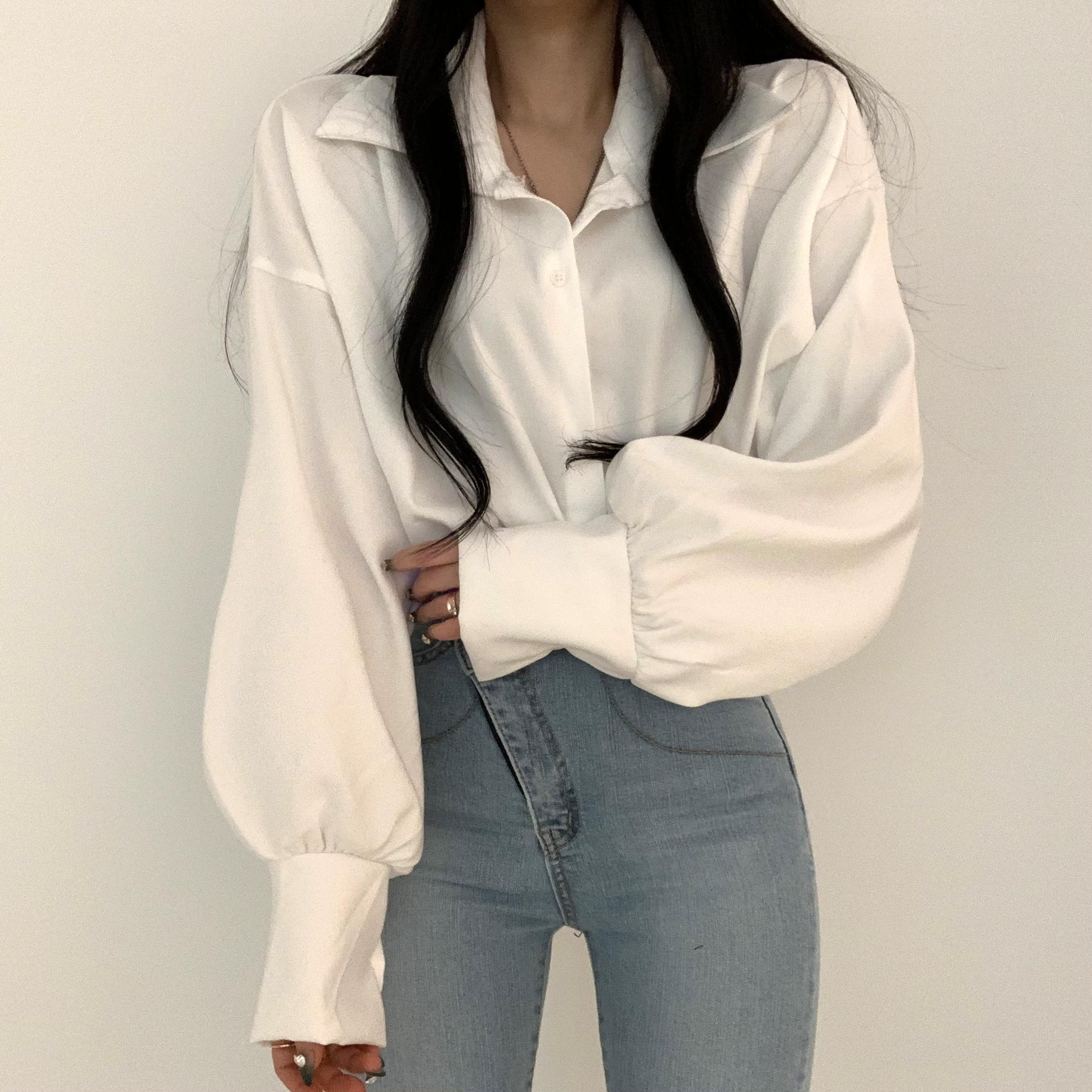 머핀 루즈핏 셔츠
