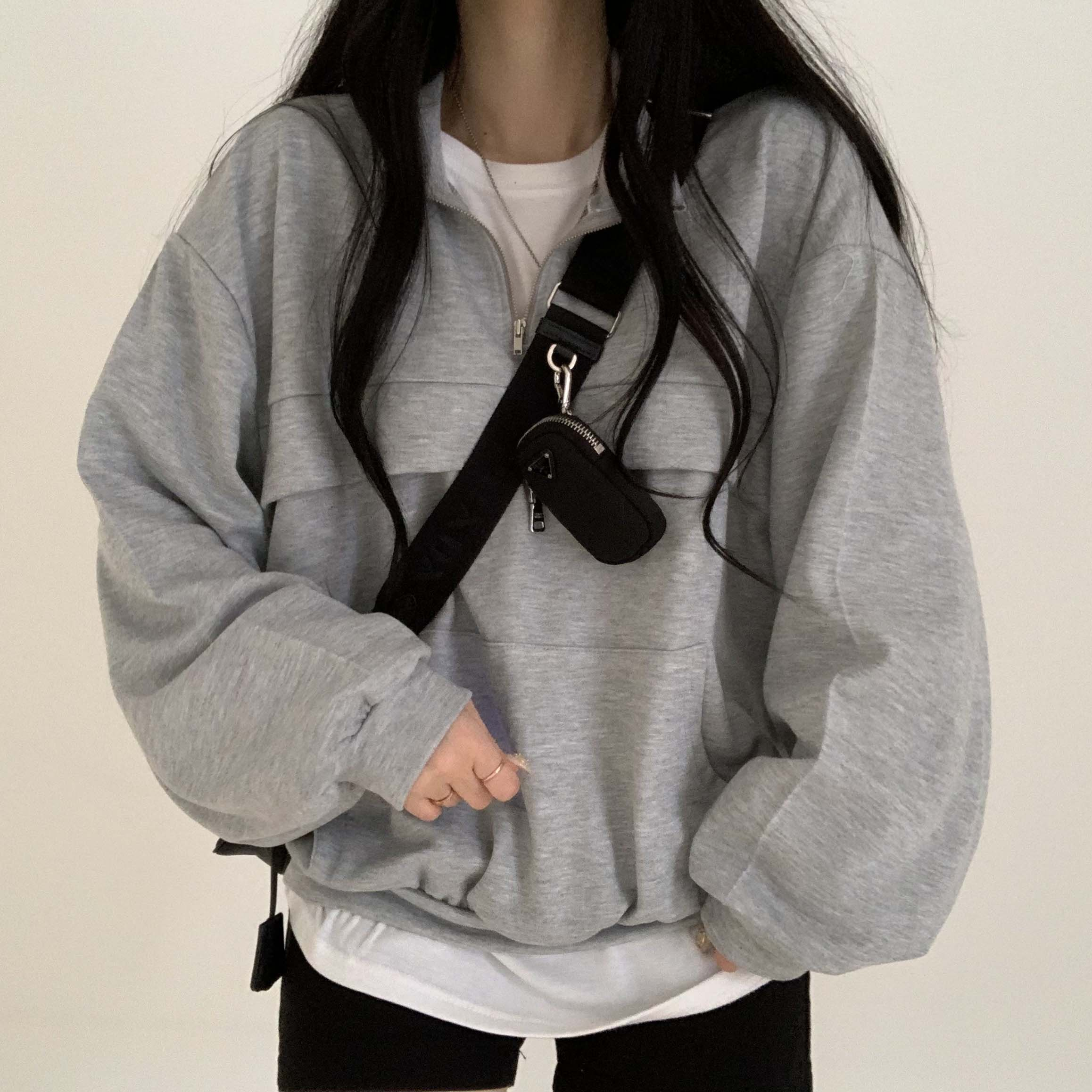 Sporty half zip Sweatshirt