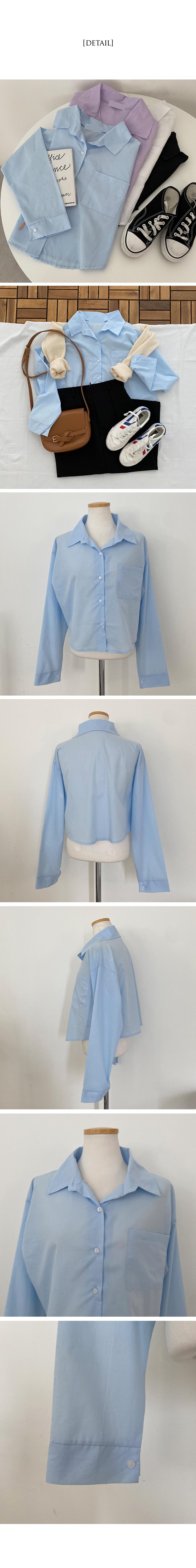 Peel cropped pocket Shirt shirt