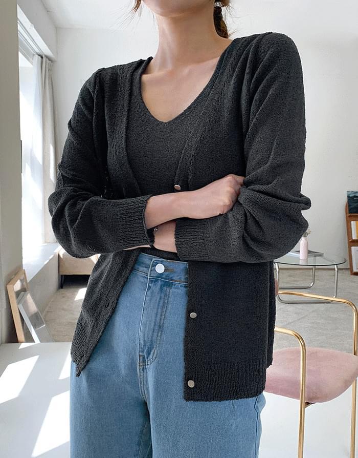 韓國空運 - Filing set 針織外套