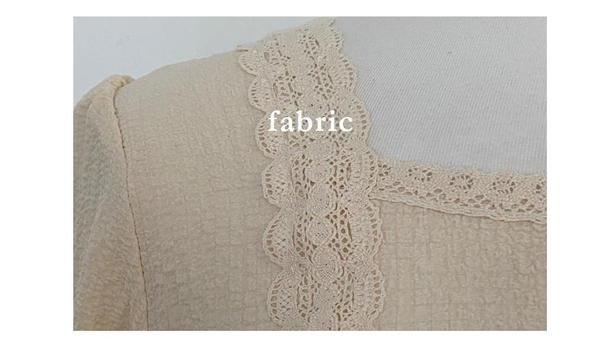 Moa lace square-neck blouse