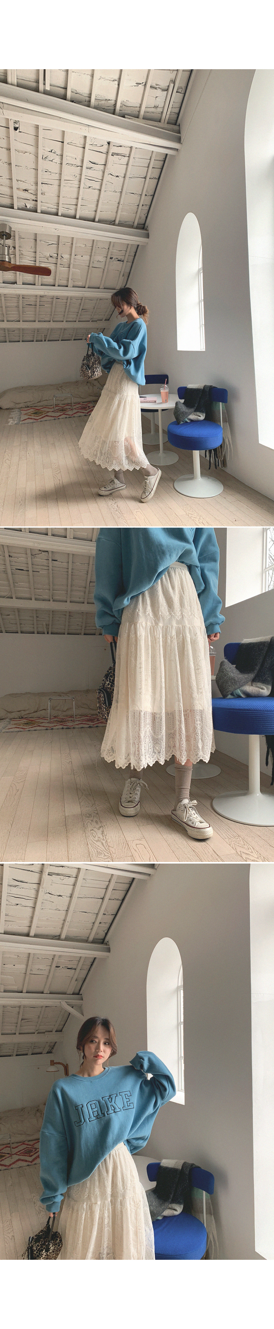 It's like a dream lace cancan long skirt