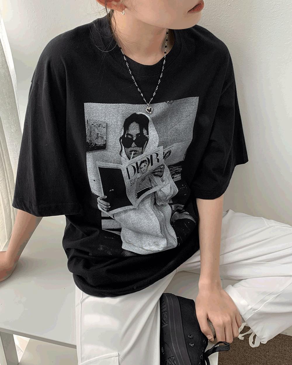 Dior Loose-fit printed short-sleeved T-shirt