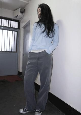 pigment color cotton pants