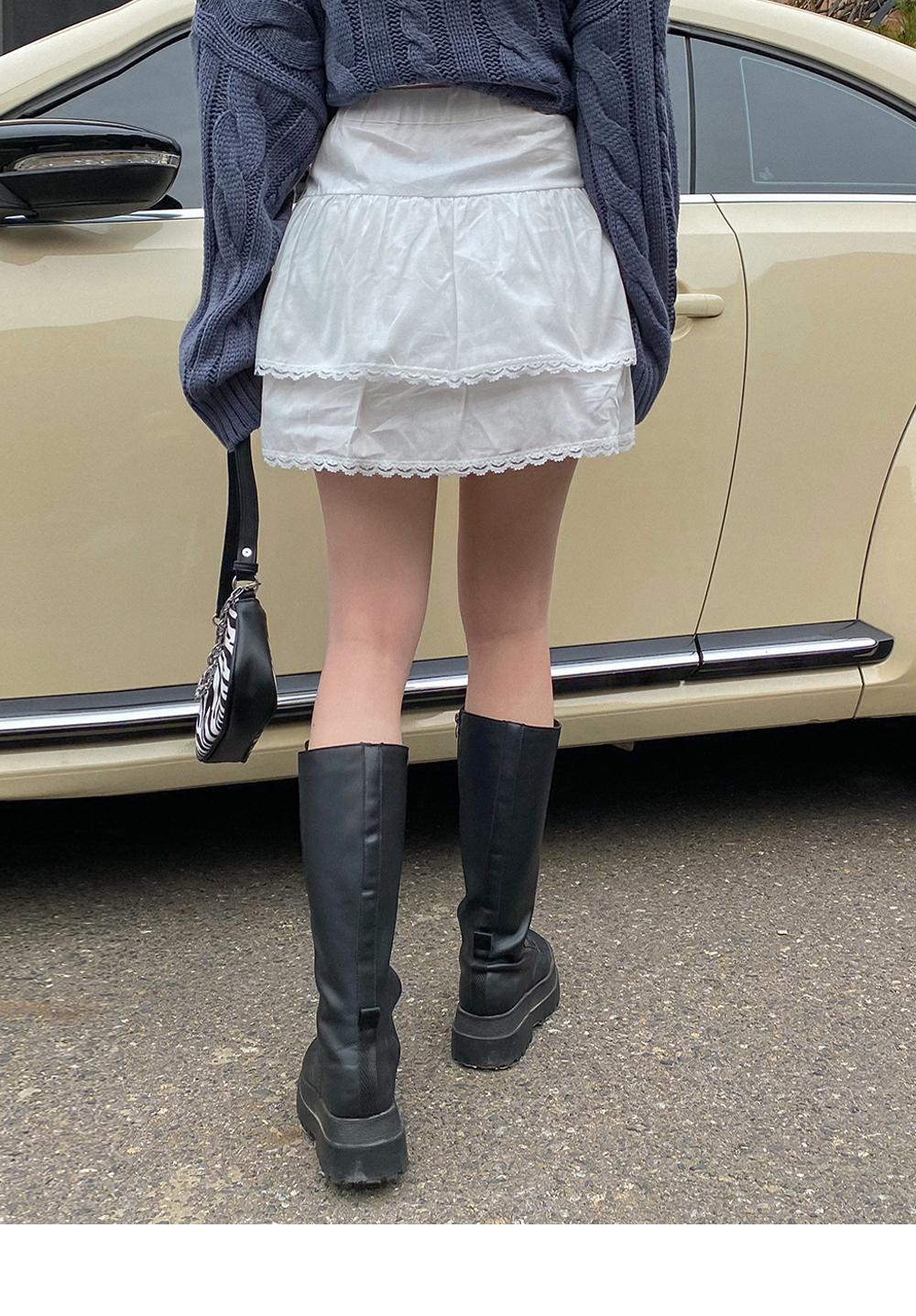 Sophie lace cancan mini skirt