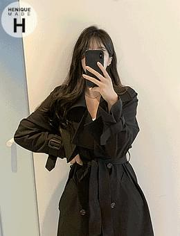 Daily Barbary Trench Coat for Over 2,000 Breaks 155cm Sensitivity Excluding Body Tall