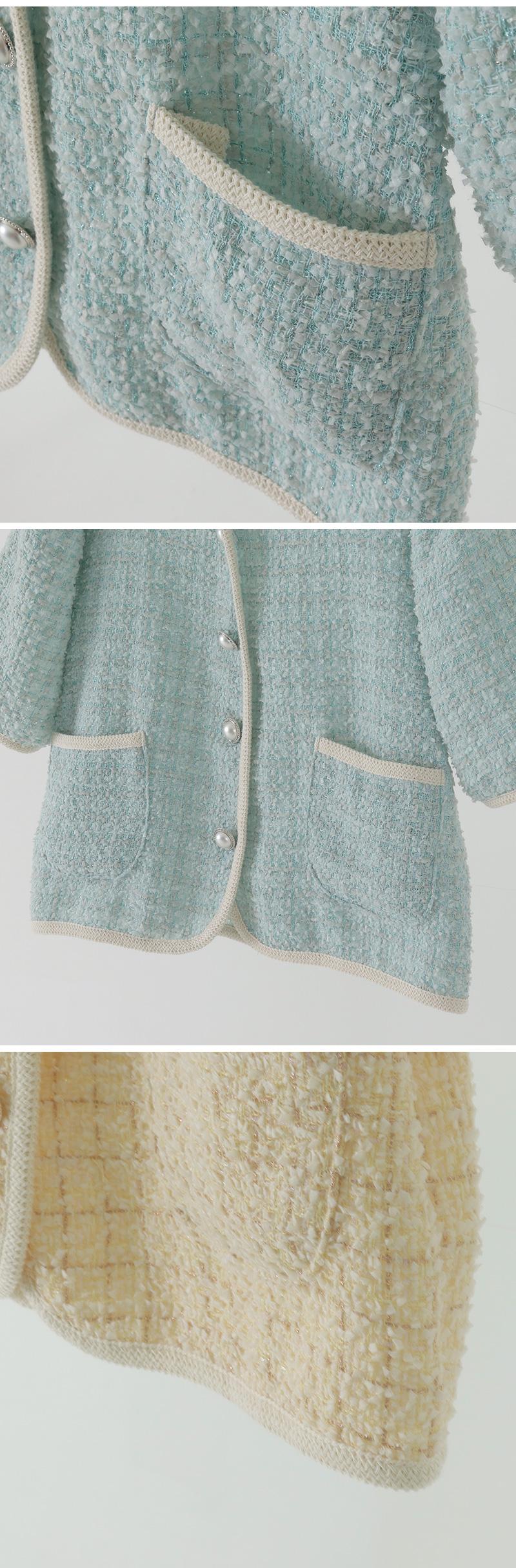 ERIEL Tweed Half Cardigan