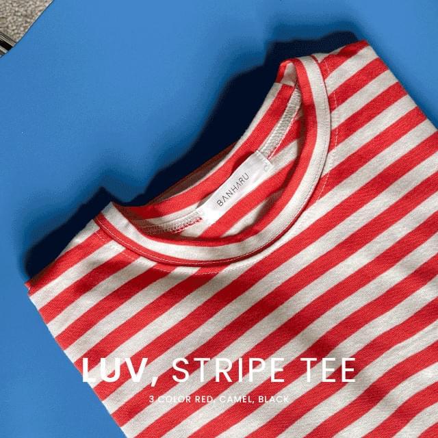 Toy Stripe Cotton Tea 長袖上衣