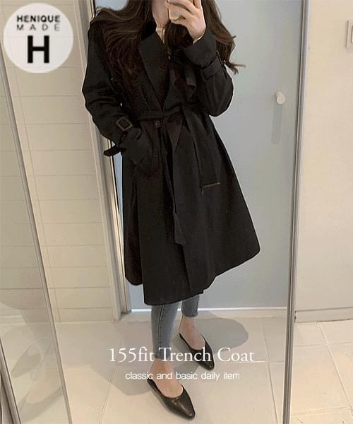 155cm Hinik, Trench Slim Fit Short Long Trench Coat