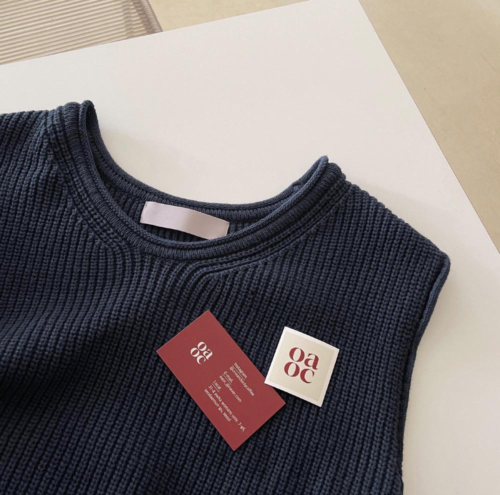 Garden V-Neck Knitwear Vest