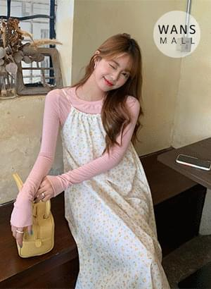 op4043 Land Flower Bustier Dress
