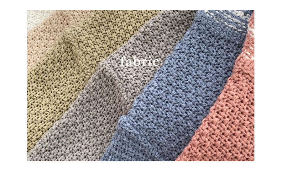 Romance Tweed Waffle Weave Short Sleeve Knitwear