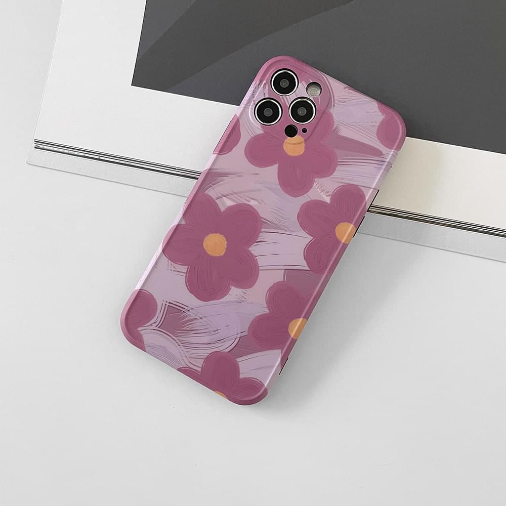 Purple Flower Full Cover iPhone Case