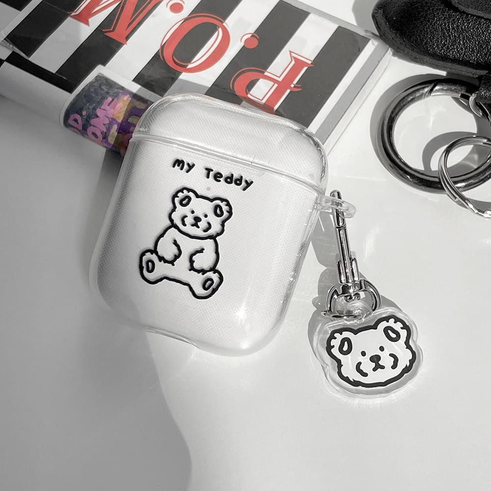 My Teddy Transparent Jelly Air Pod Case