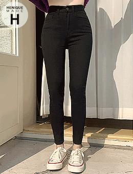 Exceeding 22,000 copies and wearing 155cm, you will be surprised by the small 8 pieces of high skinny cotton pants