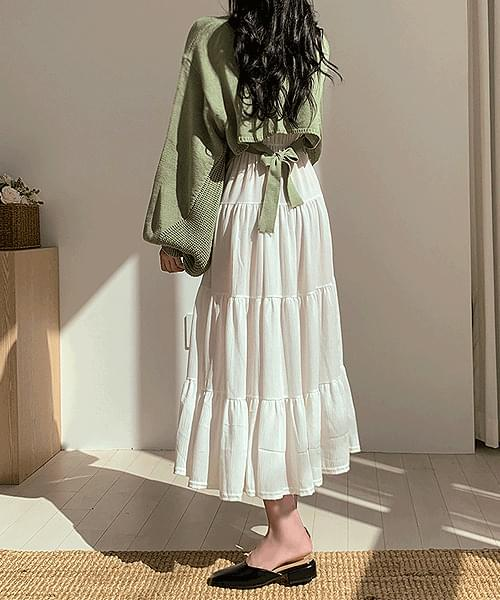 Love Is Coming Cancan Frill Long Dress