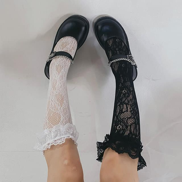 Solar lace socks