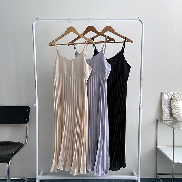 Pure pleats bustier Dress