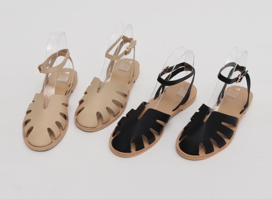 Leaf cover belt sandal_Y