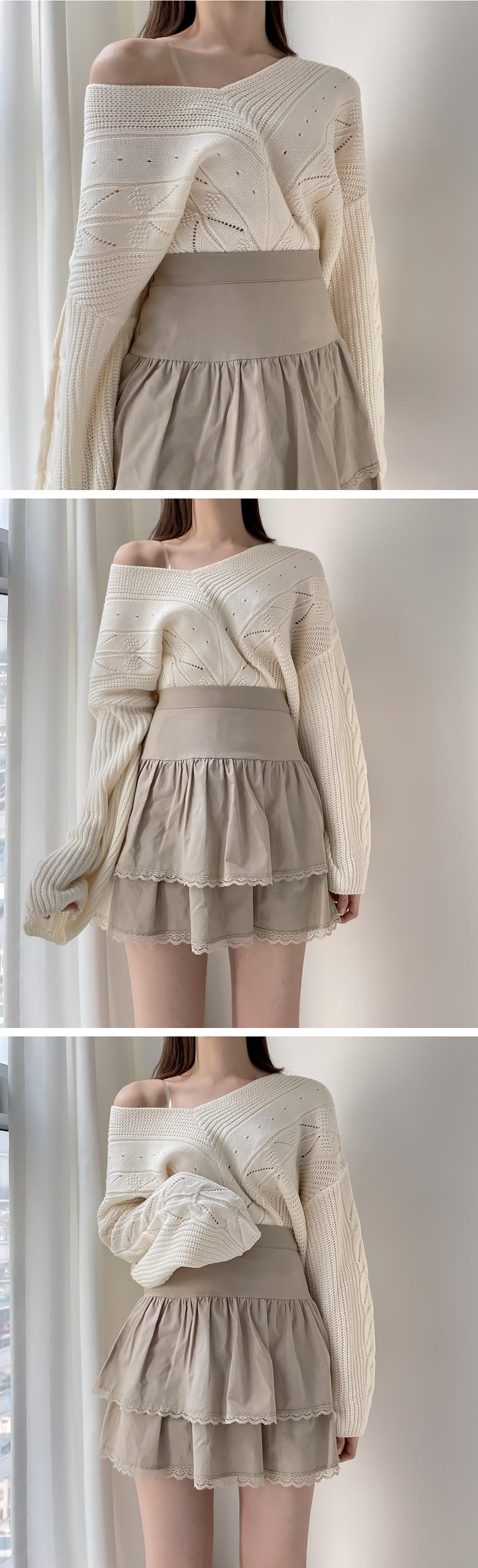 Venus Lace Cancan Skirt 3color