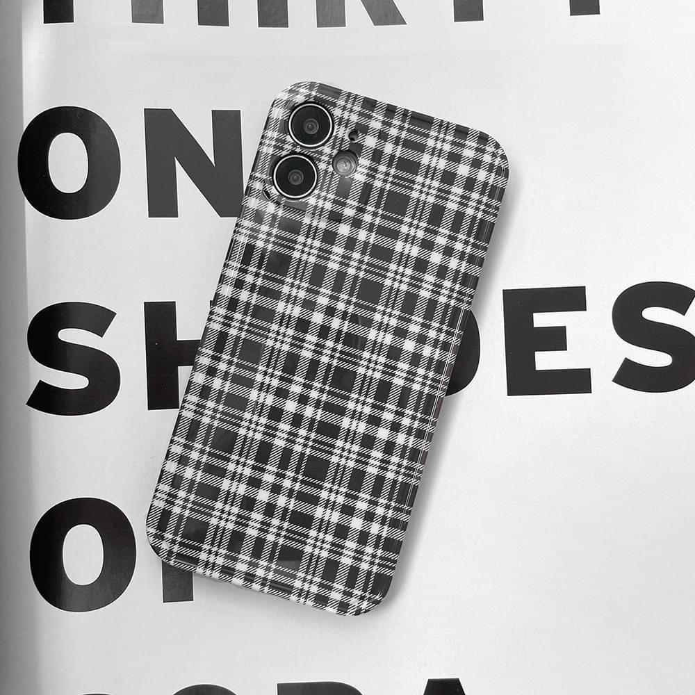 Basic Black Check Pattern iPhone Case