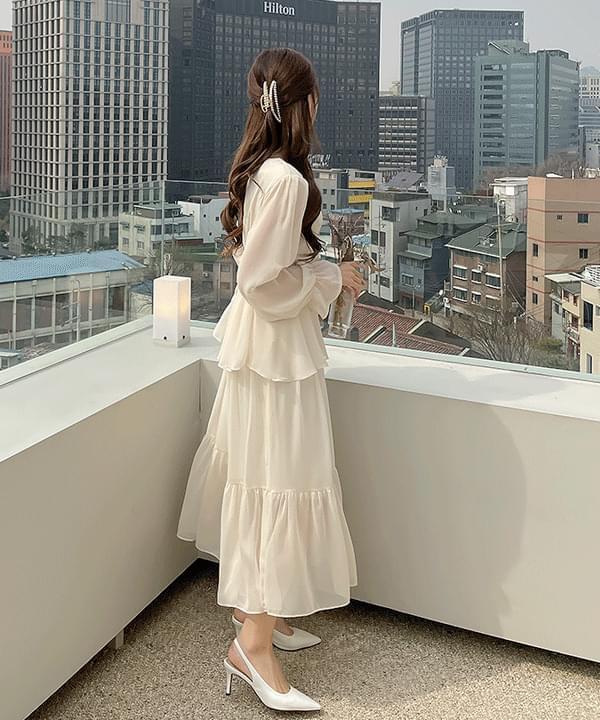 Bagel Cancan Long Dress 2color