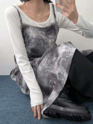 韓國空運 - Painting Bustier Long Dress 長洋裝