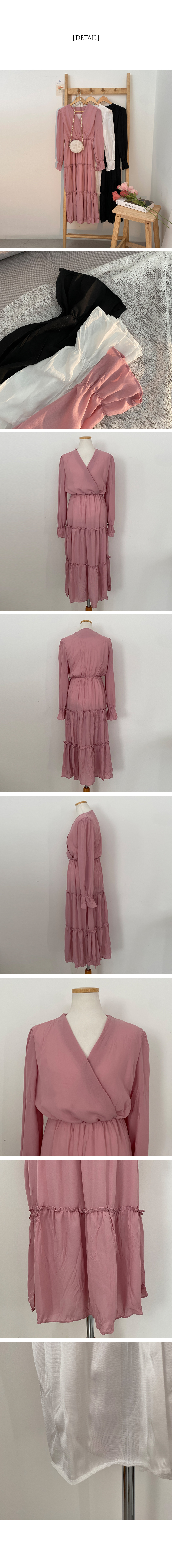 Mandatory for this season, wrinkle wrap long cancan Dress